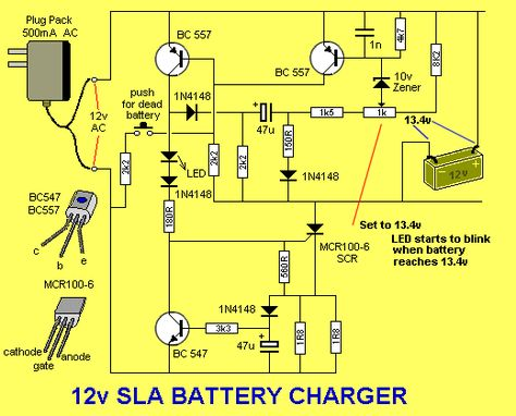 Solar Charge Controller Circuit Diagram The LED flashes when the