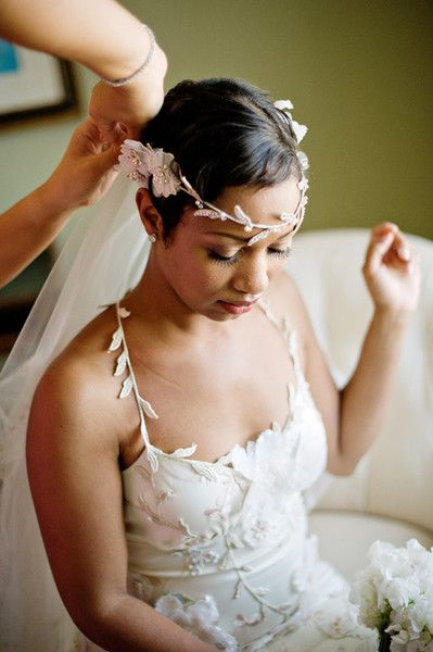 Bohemian Elegance - Short and Sweet Bridal Hairstyles - Photos