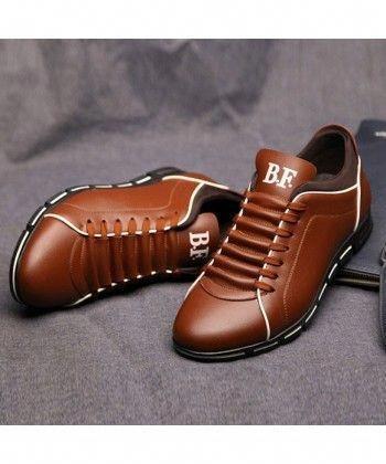 a1405d3a67e73 Sapatenis Social Masculino em Couro Marrom Calçados Elegante Sapato Casual  #MensFashionEdgy