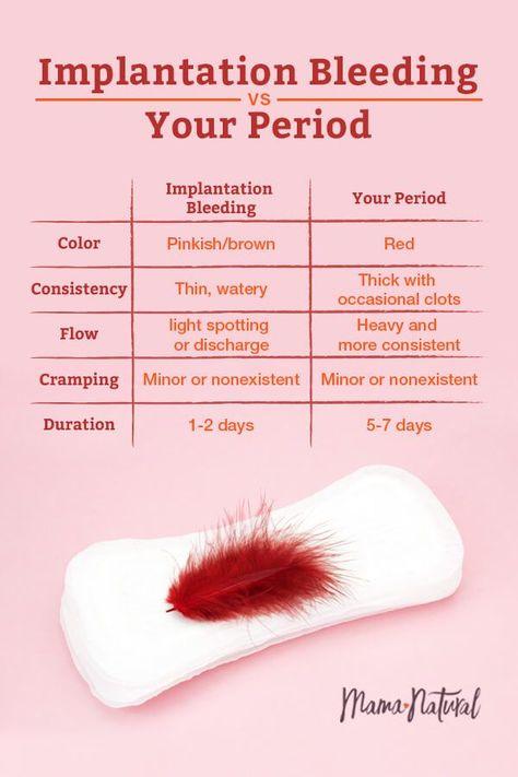 Or plan bleeding b implantation Bleeding a