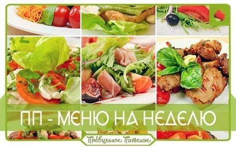 ПП. Составляем свое меню на неделю   Fitness, здоровое питание ... 145964b2ff7