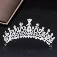 Hot Sale Silver Color Crystal Wedding Crown Headband Bridal Tiara Party Show Pageant Princess Crystal Crown Hair Accessories