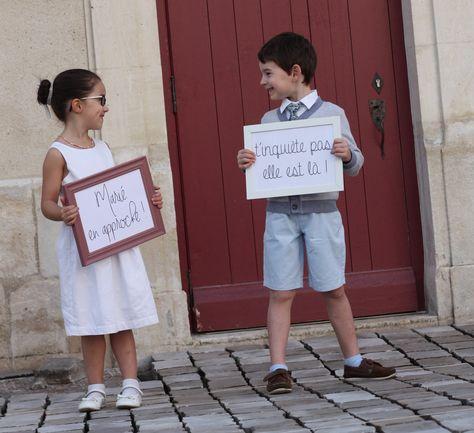 Cortège - Entrée église - Tableau - Arrivée mariée - Arrivée marié - Message de mariage - Enfants d'honneur