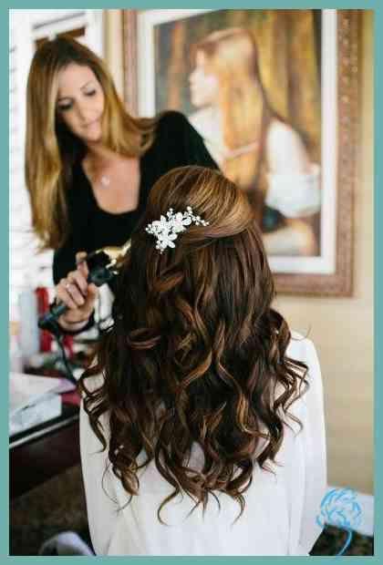 Brautjungfer Hochzeit Frisuren Fur Langes Haar Hair Pinterest Damen Frisuren Hochzeitsfrisuren Lange Haare Frisur Hochzeit Hochzeitsfrisuren