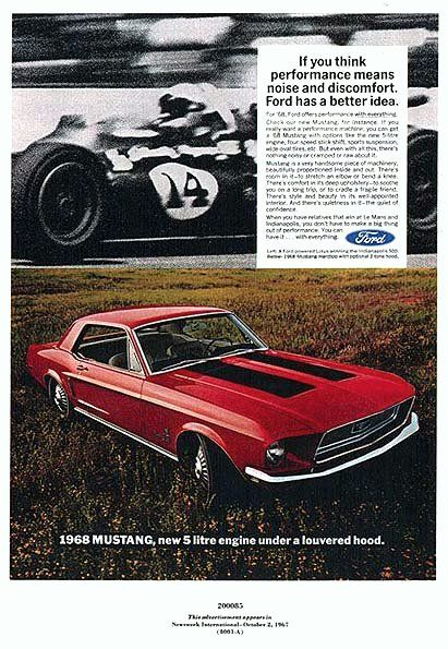 Mustang Car Ads | Old Car Ads Home | Old Car Brochures | Old Car Manual  Project ... | My Dream Car | Pinterest | Car Manuals, Mustang Cars And Cars