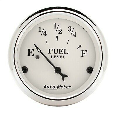 Details About Autometer 1606 Old Tyme White Fuel Level Gauge In