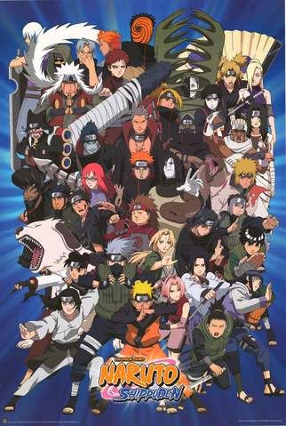Naruto Shippuden Characters Poster 24x36 With Images Naruto
