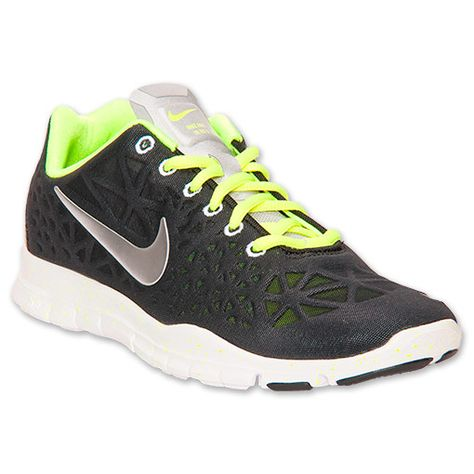 Womens training shoes Free TR Fit 3 Black Volt White Silver 555158 014