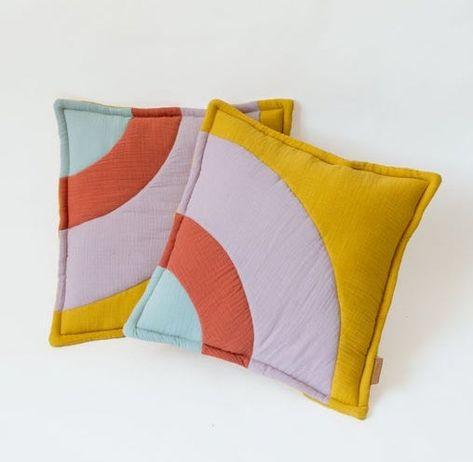 Rainbow Muslin Pillow