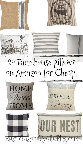 50 Farmhouse Pillows For Cheap You Will Want Them All Farmhouse Pillows Home Decor Accessories Cheap Home Decor