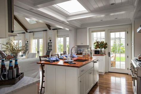 HGTV® Dream Home 2015 Kitchen | Painted in white, the home plays with light and looks even more spacious from within.
