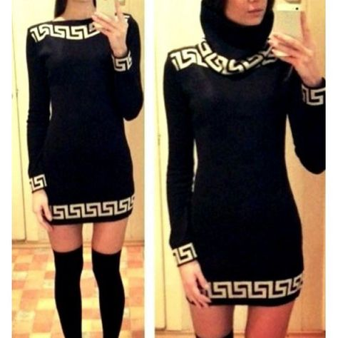 Sexy Slash Collar Long Sleeve Printed Bodycon Dress For Women