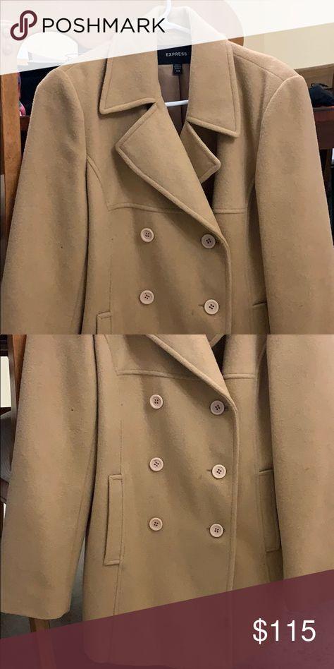 Express women's pea coat Women's beige pea coat with cream buttons Express Jackets & Coats Pea Coats