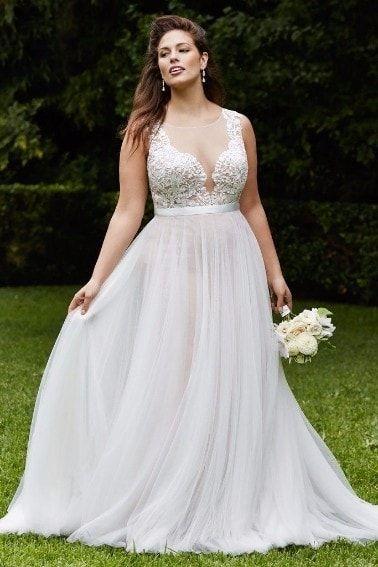 nuevos especiales captura entrega rápida Vestido de novia Plus Size.   Vestidos de novia de talla grande ...