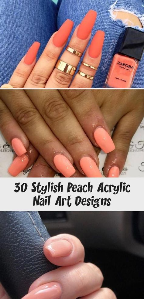 30 Stylish Peach Acrylic Nail Art Designs #GelNailsTrend #acrylicnailsPurple #ac... -  30 Stylish Peach Acrylic Nail Art Designs #GelNailsTrend #acrylicnailsPurple #acrylicnailsHalloween - #Acrylic #acrylicnailsPurple #Art #ballerinaNails #beautifulNails #brightNails #brownNails #burgundyNails #Designs #disneyNails #GelNailsTrend #grayNails #maroonNails #mermaidNails #Nail #Nailsaesthetic #Nailsinspiration #Nailsshape #Nailstumblr #Nailsvideos #orangeNails #ovalNails #peach #peachNails #rainbow