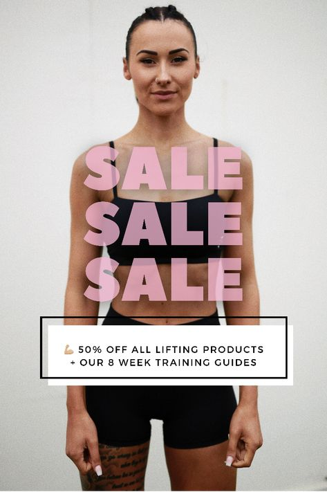 💪🏼 50% OFF all lifting products AND our 8 week training guides 🤯 25% OFF product bundles AND our 8 week training guide bundles ❗savings on top of savings❗️ Sale ENDS 6pm BST the 6th August Let's get #StrongandSxy 💪🏼💗 #SALE #workouts #training #liftingproducts #lifting #gymequipment #workoutguide