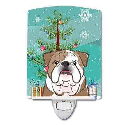 Caroline S Treasures Christmas Tree And Beagle Ceramic Night Light