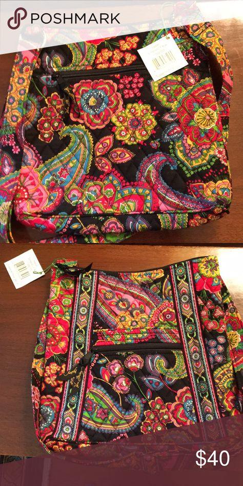 93b6d449cfbd Vera Bradley black multicolored hipster purse Black hipster purse in  Symphony in Hue print
