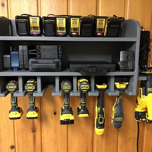 Pdf Build Plans Cordless Drill Holder Diy Plans Wall Mounted Etsy In 2020 Power Tool Storage Drill Holder Tool Storage