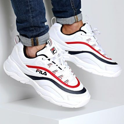 Fila Ray Low White Red Blue Size Man