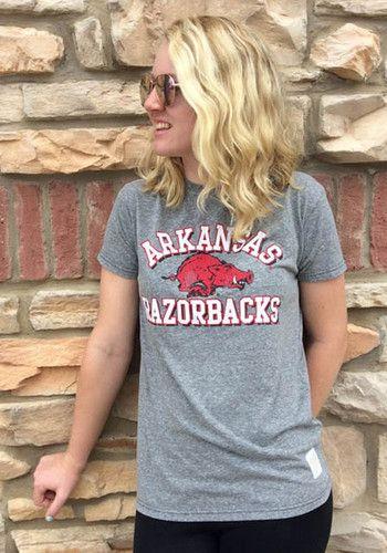 Original Retro Brand Arkansas Razorbacks Grey Team Short