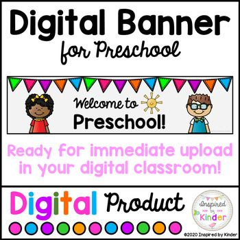 Free Banner Header For Google Classroom Preschool Distance Learning In 2020 Classroom Banner Welcome To Preschool Virtual Classrooms