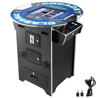 Cocktail Arcade Machine With 60 Classic Games Coin Mode Video Game Commercial