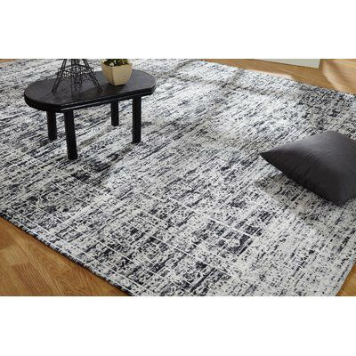 Shirl Hand Knotted Cotton Charcoal Area Rug Area Rugs Rugs