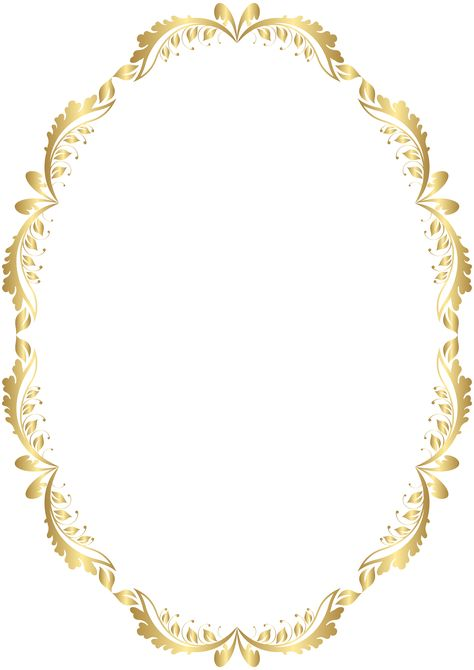 Golden Oval Border Transparent PNG Clip Art | Gallery Yopriceville - High-Quality Images and Transparent PNG Free Clipart