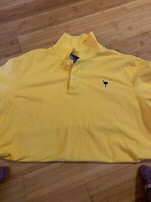 Details about Lands end XL Mens Polo Yellow With Sc Palmetto