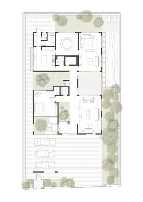 Gallery Of Box House Ming Architects 17 Box Houses House Floor Plans Rendered Floor Plan