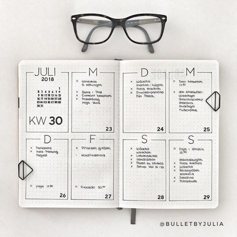 Minimal spreads are great for busy people. Here are sime very simple Bullet Journal weekly layouts for when you don't have time to plan.
