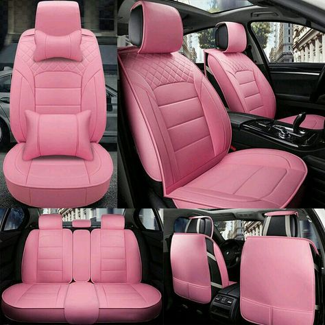Details about Deluxe PU Leather Car Seat Covers Front Rear Seat Cushion 5 Seats Universal Pink - Cars Accessories - Ideas of Cars Accessories - Deluxe PU Leather Car Seat Covers Front Rear Seat Cushion 5 Seats Universal Pink Pink Seat Covers, Leather Car Seat Covers, Car Covers, Leather Seats, Cute Car Seat Covers, Leather Recliner, Pink Car Accessories, Car Interior Accessories, Audi R8 V10