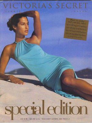 VICTORIA'S SECRET CATALOG SUMMER 1996 YASMEEN GHAURI COVER SPECIAL EDITION YASMEEN GHAURI * TYRA BANKS * DANIELA PESTOVA * REBECCA ROMIJN * STEPHANIE SEYMOUR * HELENA CHRISTENSEN CATALOG SIZE 7 5/8