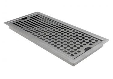 Kegco Sedp 220d Stainless Steel Flush Mount Drip Tray W Drain Drip Tray Beer Drip Tray Tray