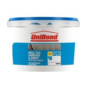 Unibond Ready To Use Wall Tile Adhesive Grout White 1 38kg Adhesive Tiles Wall Tile Adhesive Wall Tiles
