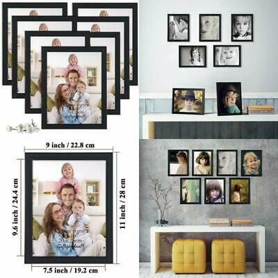 Picture Frame Multi Photo Frames Glass Cover Wall Tabletop Display 8x10 Black Fashion Home Garden Homedcor Fram Multi Photos Frame Table Top Display Frame
