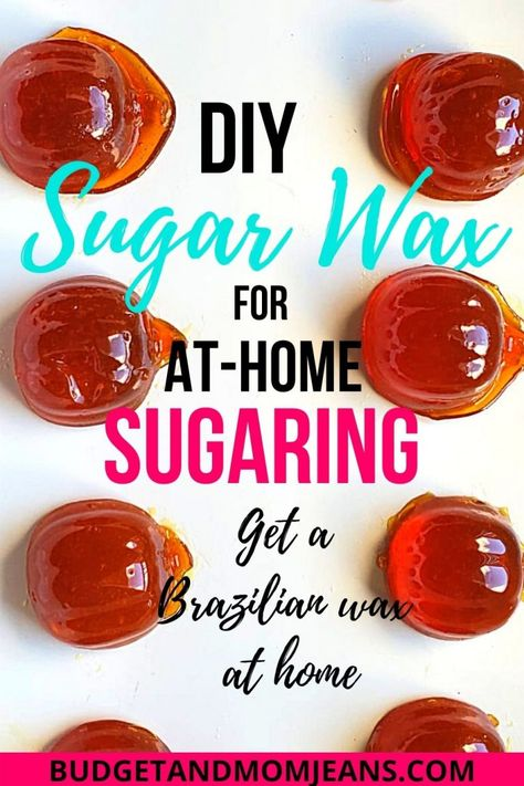 Homemade Sugar Wax, Sugar Wax Recipe, Homemade Skin Care, Diy Skin Care, Sugaring Hair Removal, Hair Removal Diy, At Home Hair Removal, Diy Hair Wax, Diy Wax