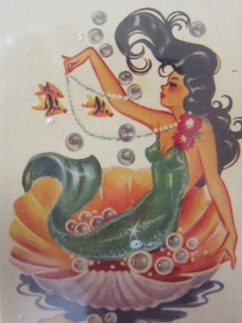 Mermaid...would make a great traditional tattoo