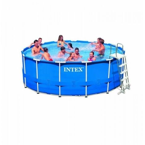 Pack Kit Piscine Tubulaire Intex Metalframe 4 57 X 1 22 M Bache