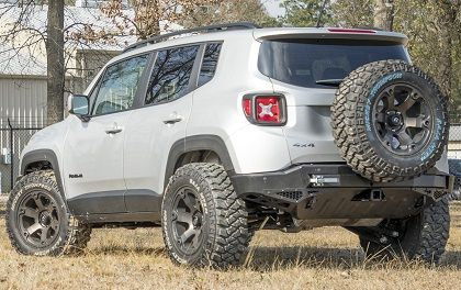 Radius Expedition Rear Bumper With Tire Carrier Tow Hitch And