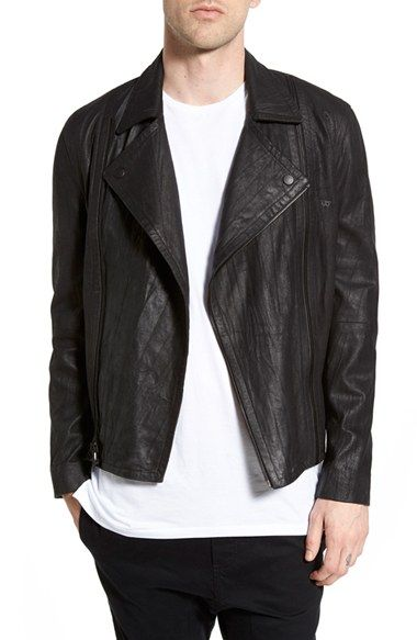 True Religion Brand Jeans x Russell Westbrook Black Leather Moto Jacket