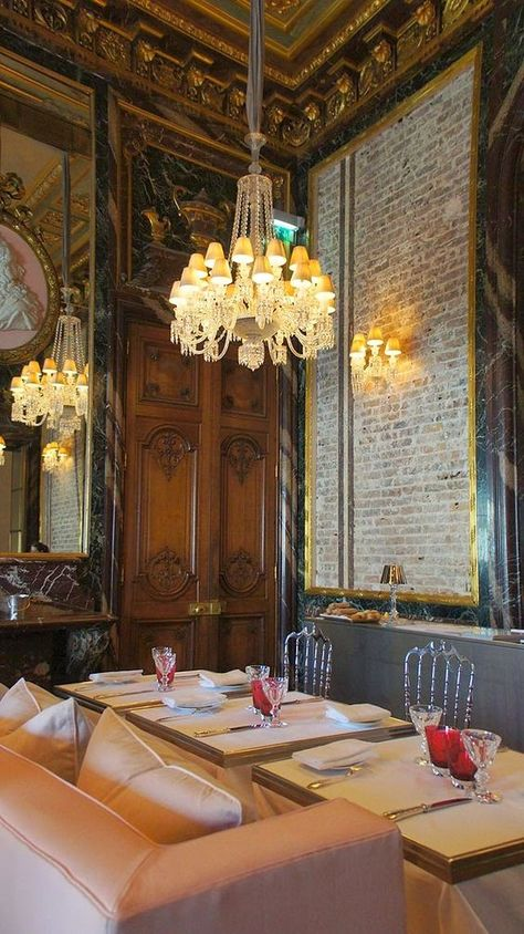 Restaurant Cristal Room Baccarat 11 Place Des Etats Unis Paris Baccarat Paris Restaurants Paris Cafe