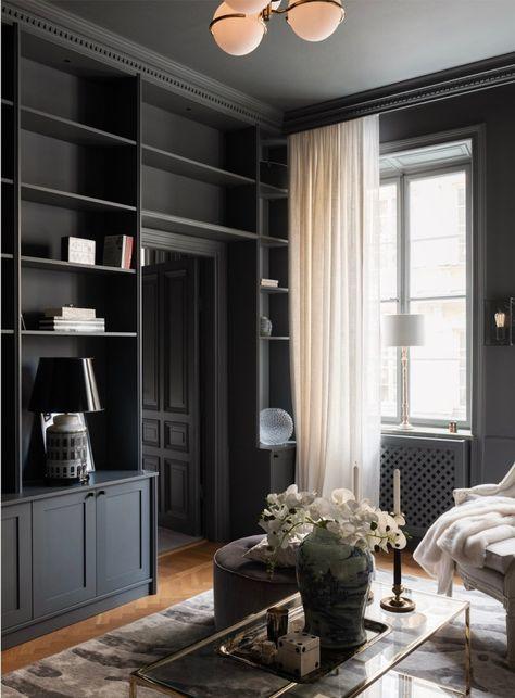 Design noir pour un appartement de deux-pièces de 56m2 - PLANETE DECO a homes world