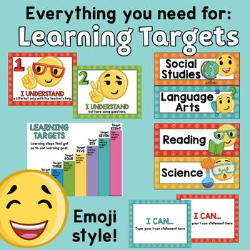 Learning Targets Learning Goals Learning Scales I Ca Learning Goals Learning Targets I Can Statements