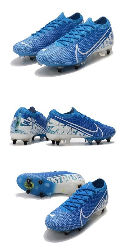 Nike Mercurial Vapor Xiii Elite Sg Pro Ac New Lights Azul Blanco In 2020 Soccer Cleats Nike Blue Nike Nike