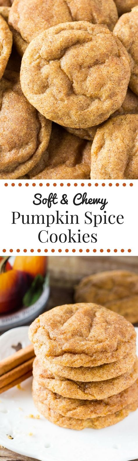 These Pumpkin Cookies are super soft  chewy and filled with fall flavors. These are the PERFECT cookies for fall!