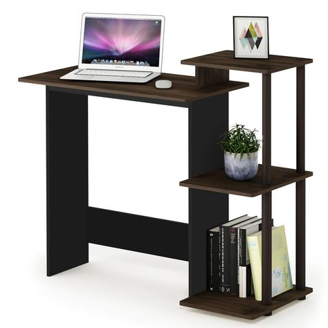 Furinno Efficient Home Columbia Walnut Brown Computer Desk
