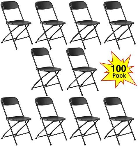 Buy Kealive Black Plastic Folding Chair 100 Pack Fold Chair Events Wedding Graduation Ceremony Premium Lifetime Fold Up Chair Commercial Quality Portable Online In 2020 Plastic Folding Chairs Folding Chair Fold Up Chairs