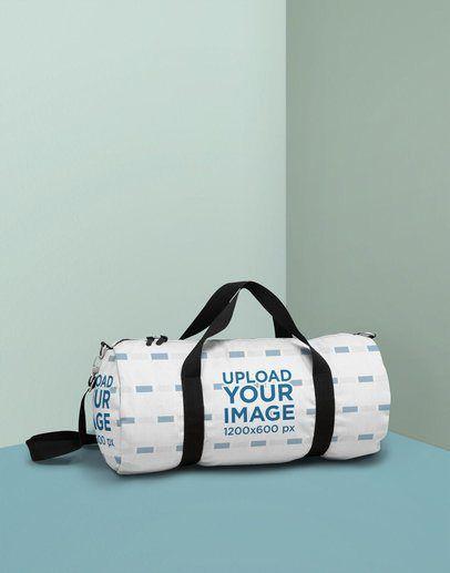 Download Placeit Duffle Bag Mockup Featuring Aduffle Bag Mockup Featuring A Minimal Colored Background Bag Mockup Bags Duffle Bag